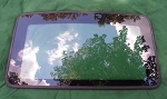 2002 INFINITI Q45 SUNROOF GLASS PANEL 91210-AT400; 91210AT400